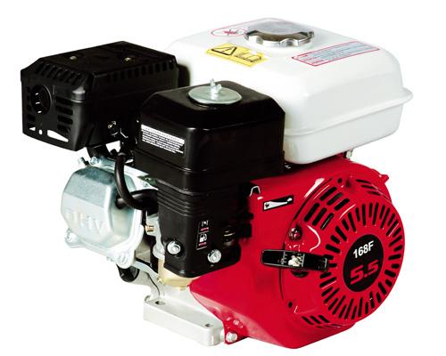 Motor med vandret aksel